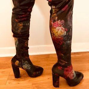 ac6d53e6e18 Madden Girl Shoes - Madden Girl Groupie Velvet Over the knee boot